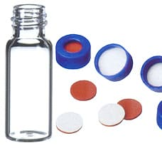 1.5ml Vial clear with Blue cap & 9mm Septa