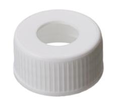 24mm pp screw cap white center hole 100/pk