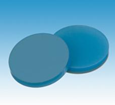 20mm Septa, Silicone transparent blue/PTFE transparent, 100/pk