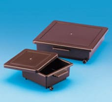 Staining Box, 22.5x22.5x5 cm, Amber-482090
