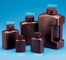 Amber Rectangular Bottle Material: HDPE  125 ml