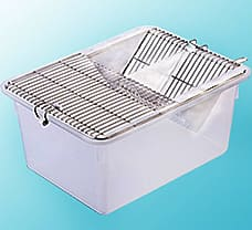 ANIMAL CAGE, PP/ Stainless Steel, Single Grill, 290 x 220 x140 mm