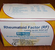 BHAT BIO-SCAN RHEUMATOID FACTOR LATEX SLIDE TEST KIT