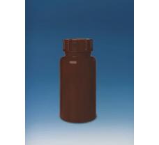 Bottle, PE-LD, narrow-mouth, 50 ml, GL 18, amber, opaque, screw cap