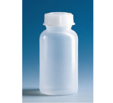 Bottle, PE-LD, narrow-mouth, 50 ml, GL 18, with cap