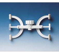 Burette clamp, PP, white, for 1 burette