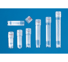 Cryogenic tube with screw cap, PP, 1.2 ml, BIO-CERT CELL CULTURE STERILE, with external thread, self-standing