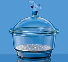 Desiccators, Vacuum, Stopcock w/ PTFE Spindle & Porcelain Plate-3083042