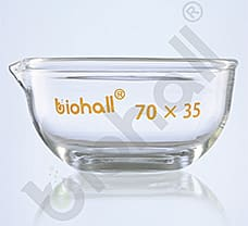 Evaporating Dishes, Flat Bottom, 70X35 MM