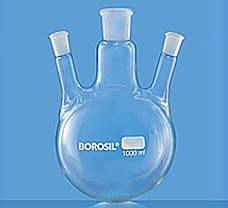 Flasks, Round Bottom, Three Necks, 100 ml-4383A16