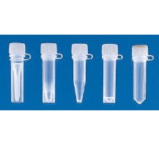 Microtubes (PP) with attached screw cap (PE) with sealing cone, 0.5 ml, self-standing, ungraduated