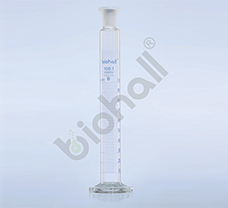 Mixing Cylinder with Glass stopper, Round Base, Class B, 500ml