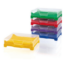 PCR-Box/-Rack, PP, for 0.2 ml single tubes, sorted by colors