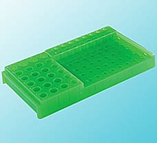 PCR Workstation Rack With Lid, PP, Tube Capacity-2 ml