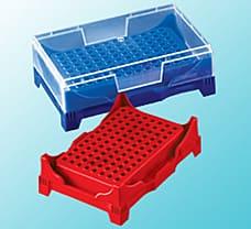 PCR Workup Rack with Lid, PP, Tube Capacity-1 ml