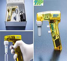 Pipettor Turbo-Fix handle transparent, TPP yellow