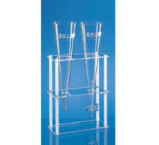 Rack fot two Imhoff sedimentation cones, made of glass or plastics 300 x 130 x 400 mm