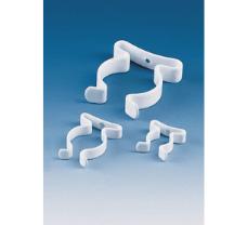 Spring clip, spring steel, zinc/PE-coated grip, diameter 13, mm, bore 3.0 mm approx.