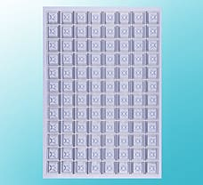 Square Sealing Mats for Deep Well Plates Family, Silicone Rubber