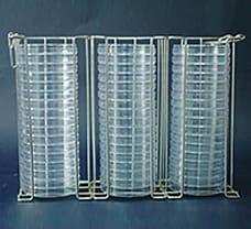 S.S. 2 Compartment Petri Plate Stand-LA952-1NO