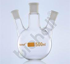 Three Neck- Angular Round Bottom Flask, Class A, USP, 5000ml