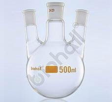 Three Neck- Parallel Round Bottom Flask, Class A, 250ml
