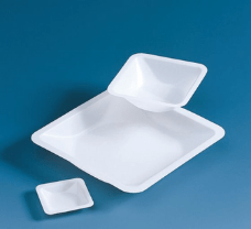 Weighing dish, PS, square shape, 7 ml, 45x45x7 mm