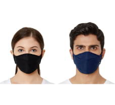 Zero Risque Anti-Fogging Reusable Extra Comfort Face Mask with Nose Pin for Adults