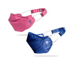 Zero Risque IPL Official Rajasthan Royals Re-usable Face Masks with Headband Adjuster Navy Blue for Adults