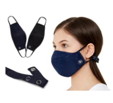Zero Risque Reusable Face Mask with Headband Adjuster for Adults - Pack of 2