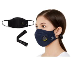 Zero Risque Reusable Face Mask with Respiratory Valve, Headband Adjuster for Adults - Pack of 2